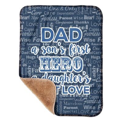 "My Father My Hero Sherpa Baby Blanket 30"" x 40"" (Personalized)"