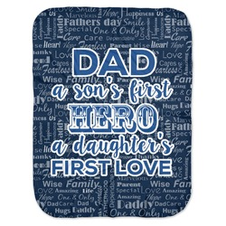My Father My Hero Baby Swaddling Blanket (Personalized)