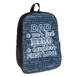 My Father My Hero Kids Backpack (Personalized)