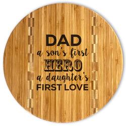 My Father My Hero Bamboo Cutting Board
