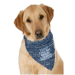 My Father My Hero Pet Bandanas (Personalized)