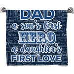 My Father My Hero Full Print Bath Towel (Personalized)