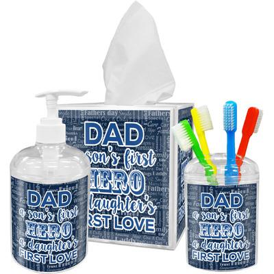 My Father My Hero Acrylic Bathroom Accessories Set