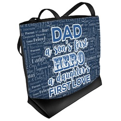 My Father My Hero Beach Tote Bag (Personalized)