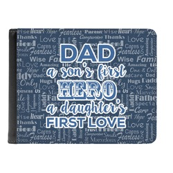 My Father My Hero Genuine Leather Men's Bi-fold Wallet (Personalized)