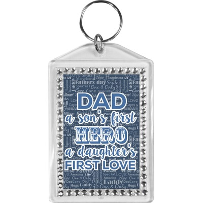 My Father My Hero Bling Keychain (Personalized)