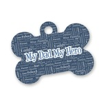 My Father My Hero Bone Shaped Dog ID Tag