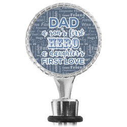 My Father My Hero Wine Bottle Stopper (Personalized)