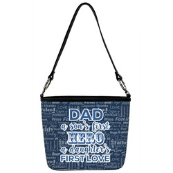 My Father My Hero Bucket Bag w/ Genuine Leather Trim (Personalized)