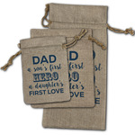 My Father My Hero Burlap Gift Bags