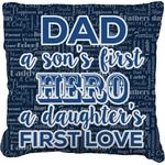My Father My Hero Faux-Linen Throw Pillow (Personalized)