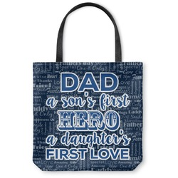 My Father My Hero Canvas Tote Bag (Personalized)