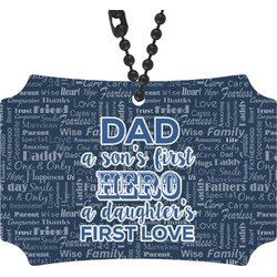 My Father My Hero Rear View Mirror Ornament (Personalized)