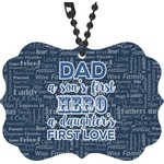 My Father My Hero Rear View Mirror Decor (Personalized)