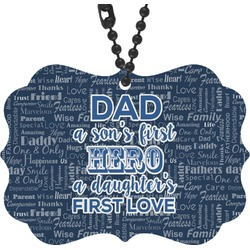 My Father My Hero Rear View Mirror Charm (Personalized)