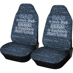 My Father My Hero Car Seat Covers (Set of Two) (Personalized)