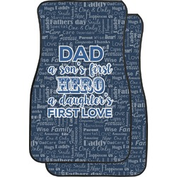 My Father My Hero Car Floor Mats (Front Seat) (Personalized)