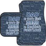 My Father My Hero Car Floor Mats (Personalized)