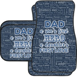 My Father My Hero Car Floor Mats Set - 2 Front & 2 Back (Personalized)