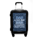 My Father My Hero Carry On Hard Shell Suitcase (Personalized)