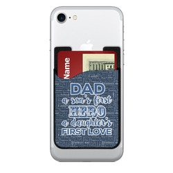 My Father My Hero 2-in-1 Cell Phone Credit Card Holder & Screen Cleaner (Personalized)