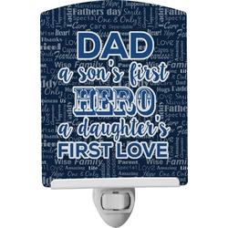 My Father My Hero Ceramic Night Light (Personalized)