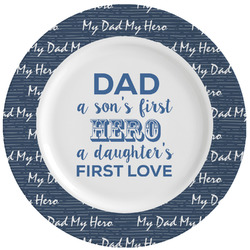 My Father My Hero Ceramic Dinner Plates (Set of 4) (Personalized)