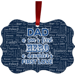 My Father My Hero Ornament (Personalized)