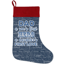 My Father My Hero Holiday Stocking