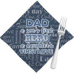 My Father My Hero Napkins (Set of 4) (Personalized)