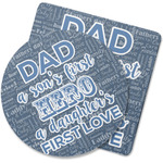 My Father My Hero Rubber Backed Coaster (Personalized)