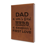 My Father My Hero Leatherette Journal (Personalized)