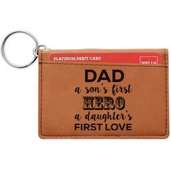 My Father My Hero Leatherette Keychain ID Holder (Personalized)
