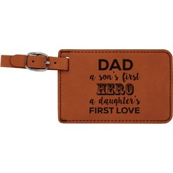 My Father My Hero Leatherette Luggage Tag (Personalized)