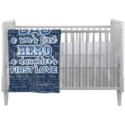 My Father My Hero Crib Comforter / Quilt (Personalized)