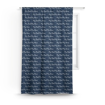 My Father My Hero Curtain (Personalized)