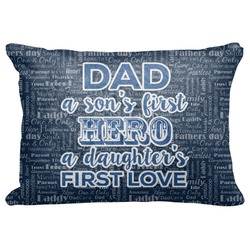 "My Father My Hero Decorative Baby Pillowcase - 16""x12"" (Personalized)"