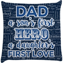 My Father My Hero Decorative Pillow Case (Personalized)