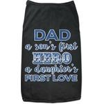 My Father My Hero Black Pet Shirt (Personalized)