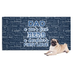 My Father My Hero Dog Towel (Personalized)