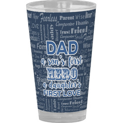 My Father My Hero Drinking / Pint Glass (Personalized)