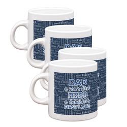 My Father My Hero Espresso Mugs - Set of 4 (Personalized)
