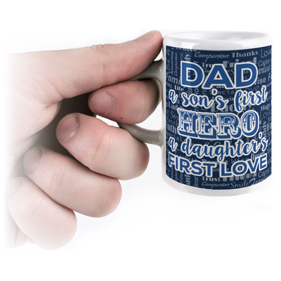 My Father My Hero Espresso Cups (Personalized)