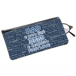 My Father My Hero Genuine Leather Eyeglass Case (Personalized)