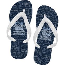 My Father My Hero Flip Flops - Large (Personalized)