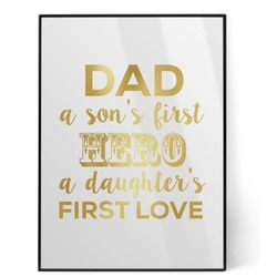My Father My Hero Foil Print (Personalized)