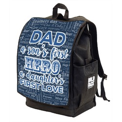 My Father My Hero Backpack w/ Front Flap  (Personalized)