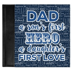 My Father My Hero Genuine Leather Baby Memory Book (Personalized)
