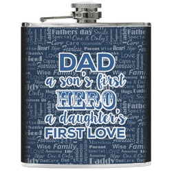 My Father My Hero Genuine Leather Flask (Personalized)
