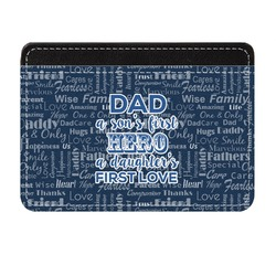 My Father My Hero Genuine Leather Front Pocket Wallet (Personalized)